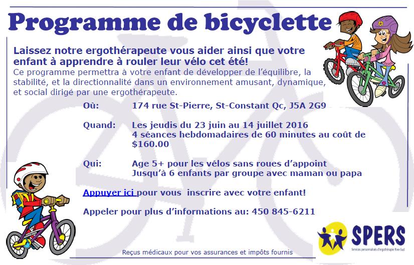 Programme de bicyclette